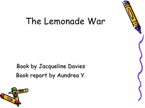 the lemonade war book report power point book reports j5