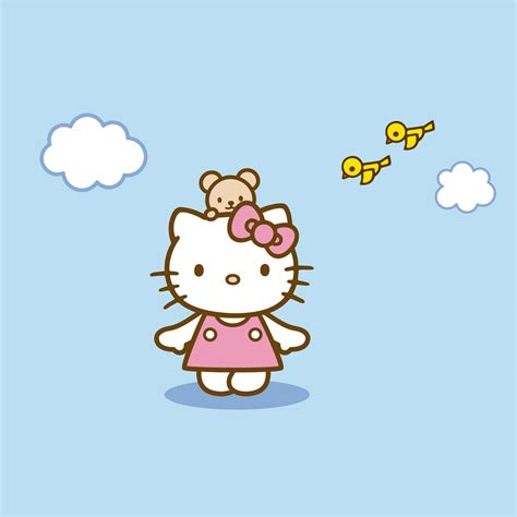 wallpaper hello kitty blue freeios7 hello kitty blue parallax hd iphone ipad