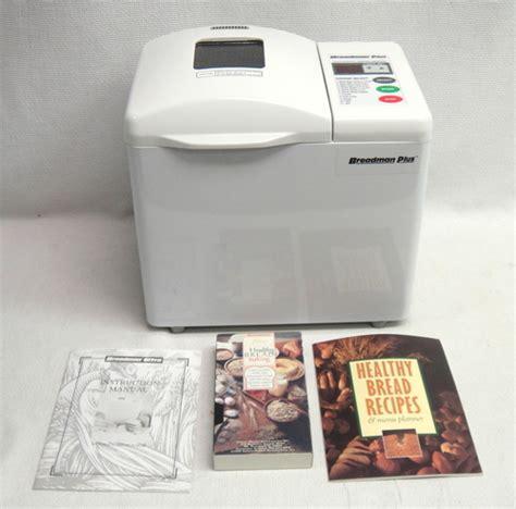 bread maker recipe book ebay breadman tr 700 automatic bread maker machine w video