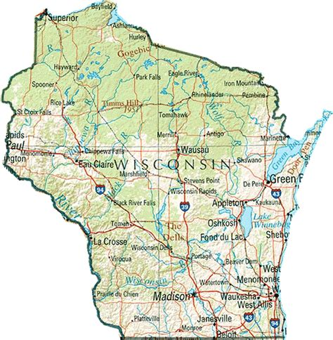 wisconsin state map 6 best images of wisconsin state map printable printable wisconsin map with cities wisconsin