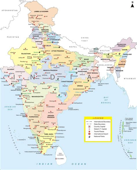 india map with cities i want india map