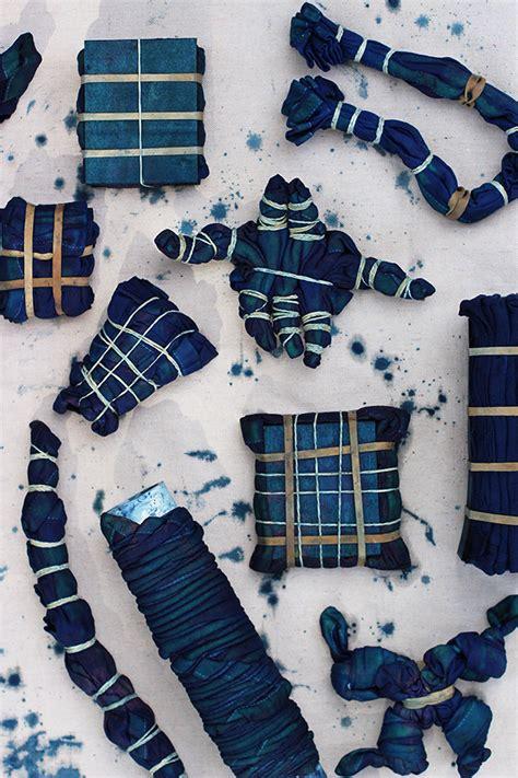 tie dye diy to try indigo shibori cloth mydomaine