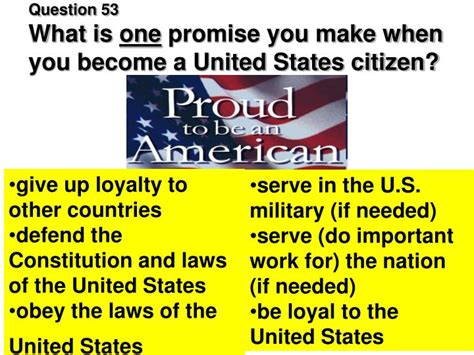Can You Become A Us Citizen With A Criminal Record Ppt Civics Test For Citizenship Powerpoint Presentation Id 5581096