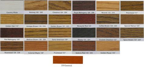 Hardwood Floor Color Chart   Wood Floors