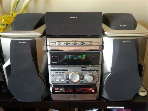 sony mhc rxd10av 3 cd shelf stereo system with remote