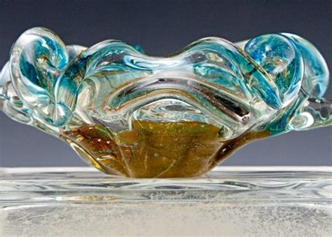vintage beach decor murano art glass ash bowl big ashtray