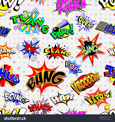 colorful cartoon wallpaper colorful cartoon text captions explosions noises stock