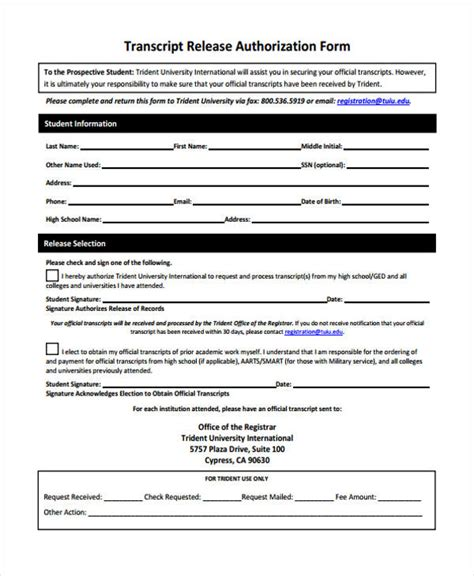 State Of Nh Criminal Record Release Authorization Form Sle Release Authorization Form 14 Free Documents In
