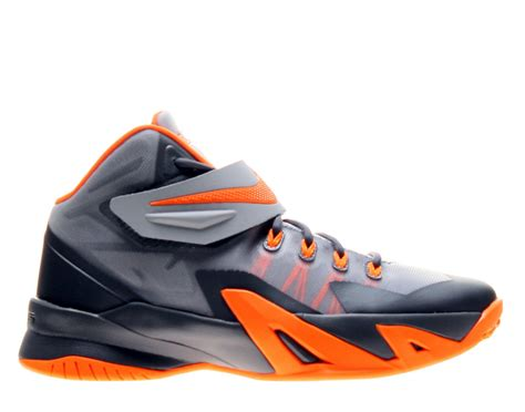 boys orange basketball shoes nike zoom lebron soliders viii gs boys basketball shoes