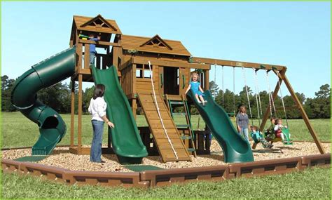 creative playthings wooden swing sets creative playthings yorktown swing set