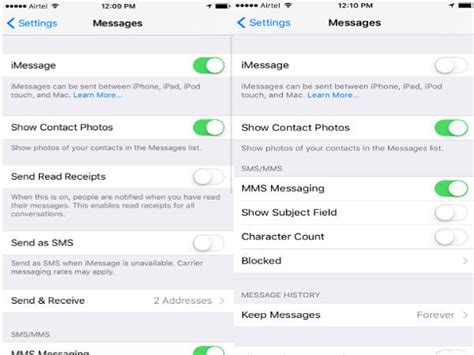 how to disable imessages and go back to sms on apple iphones gizbot
