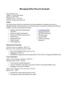 Resume Sle With Photo by Freelance Editor Resume Sales Editor Lewesmr
