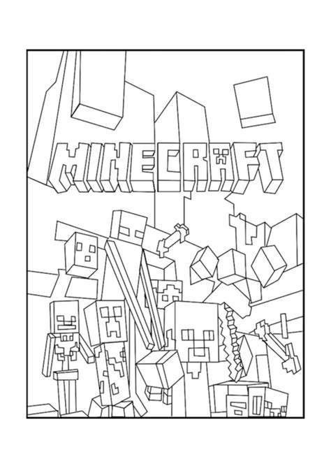 minecraft coloring pages monsters coloring pages best minecraft mobs coloring pages free
