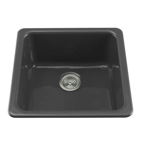 Ferguson Kitchen Sinks K6587 7 Iron Tones White Color Undermount Single Bowl Kitchen Sink Black At Shop Ferguson