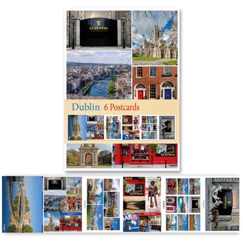 Will Calendars Dublin Dublin Pack Of 6 Postcards Calendars