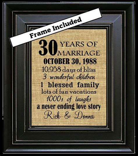 Best 25  30th anniversary gifts ideas on Pinterest   30