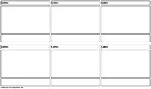 blank storyboard template storyboard by warfield