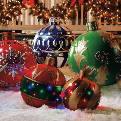 places that sell big christmas lutside balls decorations for outside power to an experience fresh design pedia