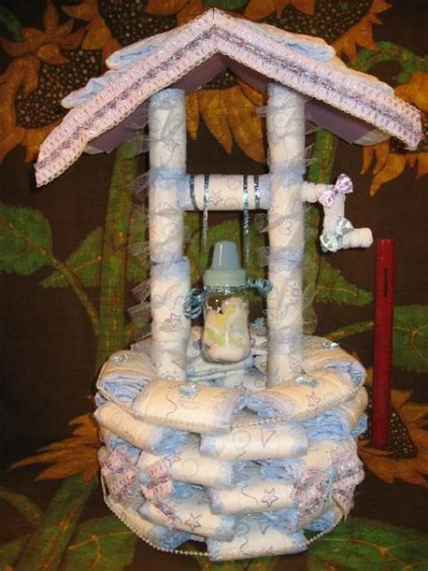 wishing well for a baby shower cake diaperzoo baby showers