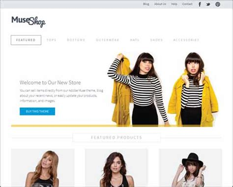 Free And Premium Responsive Adobe Muse Templates 56pixels Com Adobe Muse Ecommerce Templates