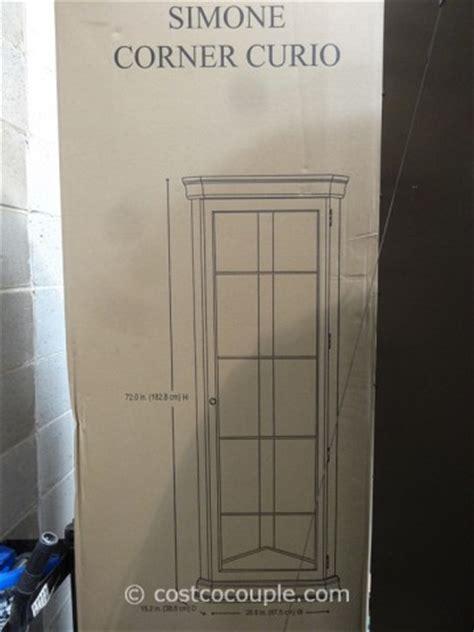 pulaski curio cabinet costco pulaski furniture corner curio cabinet