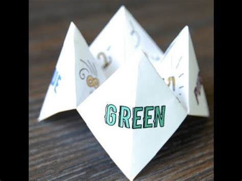 Finger Origami Fortune Teller - how to make an origami fortune teller