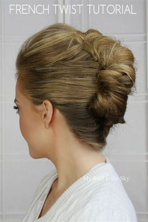 french twist updo pictures 20 easy updo hairstyles for medium hair pretty designs