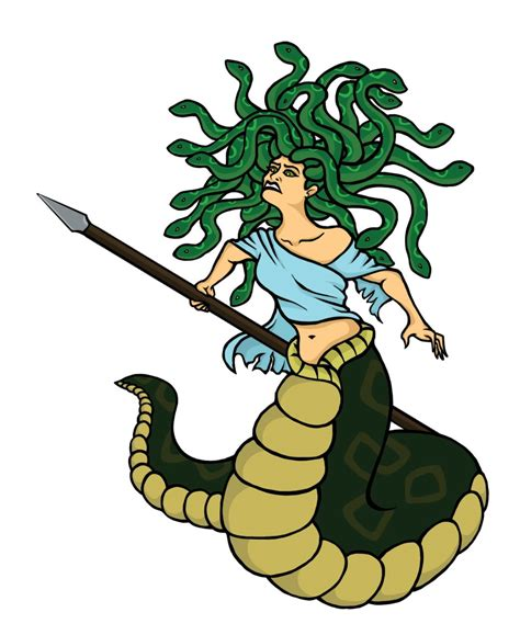 medusa clipart medusa clipart mythical creature pencil and in color
