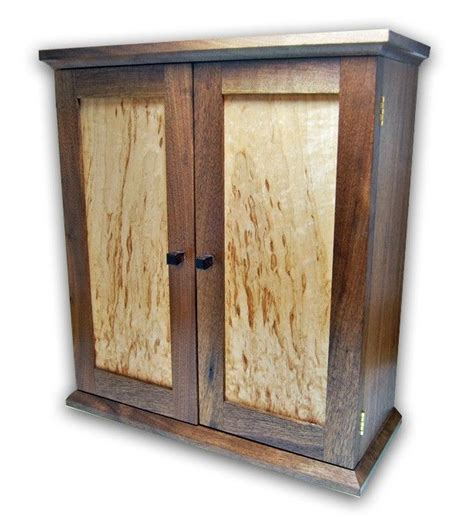 maple jewelry armoire hand made jewelry chest armoire walnut and figured maple