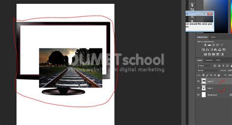Monitor Buat cara buat effek 3d keluar dari monitor kursus desain grafis