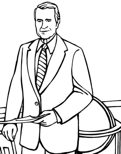 George W Bush Coloring Page by George W Bush Free Coloring Pages