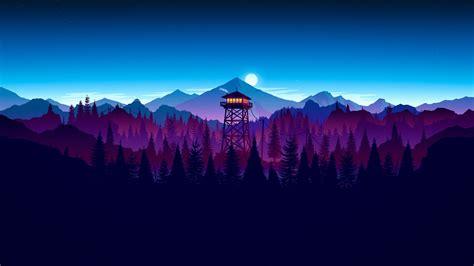 wallpaper firewatch artwork hd  creative graphics