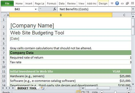 how to create a site plan website budget tracker template for excel