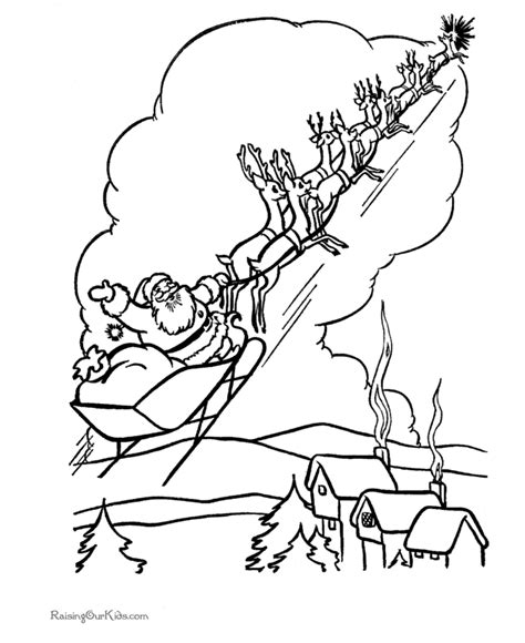 coloring page of santa in his sleigh santa sleigh coloring pages coloring home