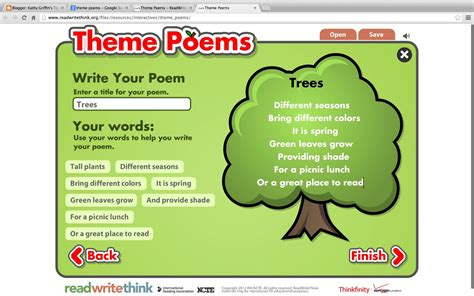 themes list read it write it tell it kathy griffin s teaching strategies writing theme poems