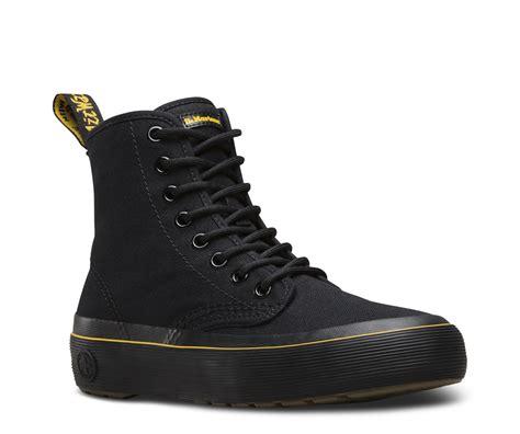 dr marten s monet black canvas boot eagleton footwear