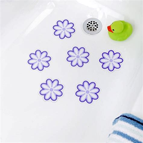 bathtub adhesive stickers bath tub anti slip discs non skid adhesive shower stickers appliques treads clear