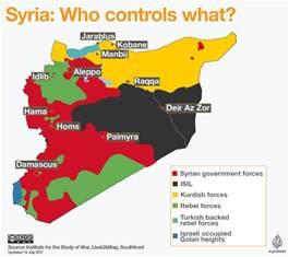 Syria Civil War Map by Syrian Civil War Map Syria Al Jazeera