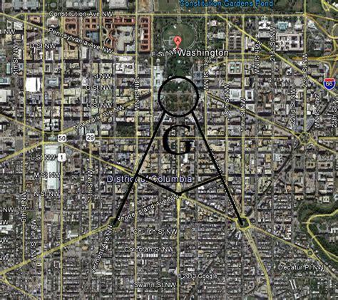washington dc map masonic symbols washington dc was developed by freemasons it is not a