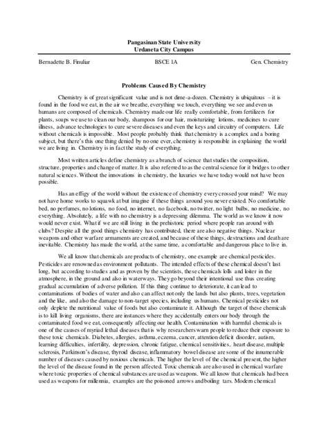 Chemistry Essays essay applications chemistry