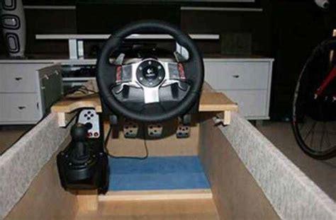 postazione per volante postazione simulatore di guida fai da te elaborare gt
