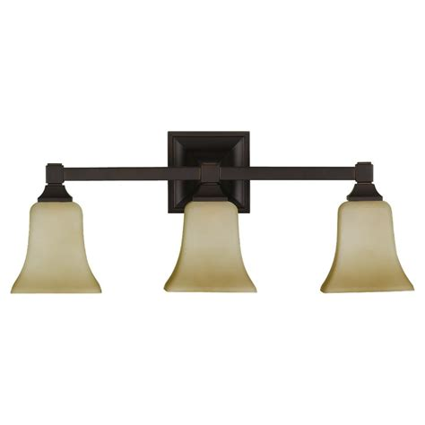 Rubbed Bronze Lighting by Feiss Lighting American Foursquare 3 Bulb Rubbed