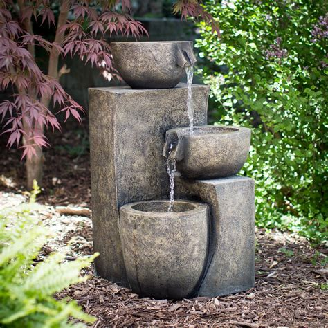 coral coast indooroutdoor tiered contemporary fountain