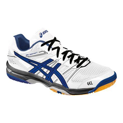 asics s gel rocket 7 indoor court shoes white blue