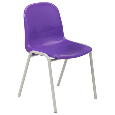 Proform europe harmony school chairs 430mm high violet seat grey frame pack 4 rapid online