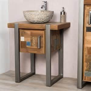 Supérieur Meuble Tv 70 Cm #8: Ori-meuble-de-salle-de-bain-factory-teck-metal-70-cm-1358.jpg