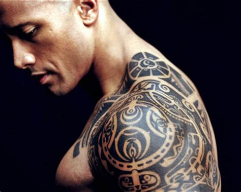 the rock s arm tattoo in faster inked celebs with tattoos