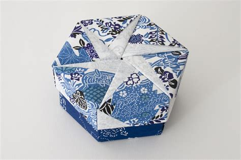 Origami Box Lid - hexagonal origami box with lid 19 flickr photo