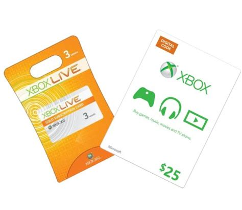 Xbox Live Digital Gift Card - xbox live 3 month gold 25 xbox gift card xbox 360 digital code