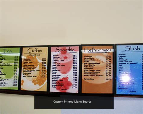 design menu sign menu boards